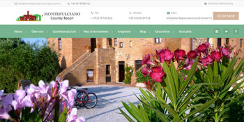 Montepulciano Country Resort Website